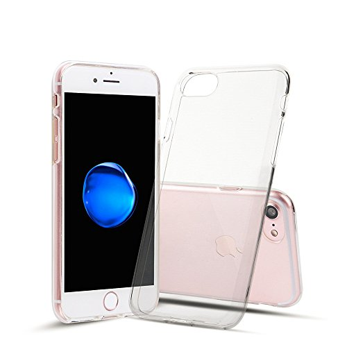 iPhone 7 (Transparent)[SOFT-FLEX] Shock-Absorption Bumper [Crystal Clear] and Anti-Scratch Clear Back Cover Case  available at amazon for Rs.89