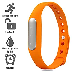 Bingo TW02 Fitness Excercise Band Built In With 3 Indicator Lights- orange