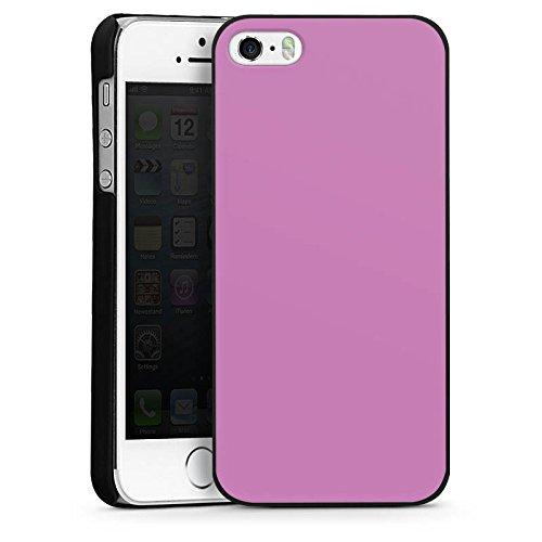 Apple iPhone 4 Housse Étui Silicone Coque Protection Mauve Lilas Violet CasDur noir