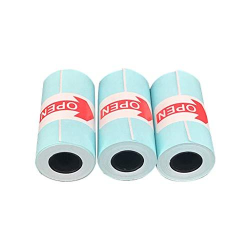 IYU_Dsgirh 3pcs Blanc 57x30mm Autocollant pour Papier d'impression Thermique (White)