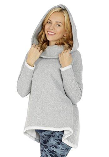 Wolle Skinny Hose (Nitis Umstandsmode Damen Langarmshirt Locker Mode Herbst Kapuzenshirt Kapuzenpullover Einfarbig Casual Sweatshirt/Beige L/XL)