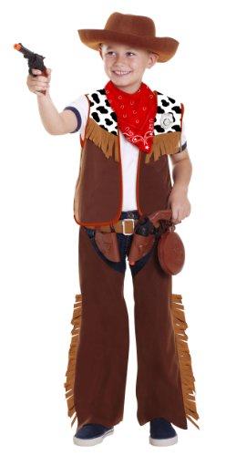 joker CC500001 - Cowboy Costume di Carnevale in Busta, Marrone