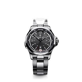 Victorinox Swiss Army 241569 – Reloj analógico de cuarzo para hombre con correa de acero inoxidable, color plateado