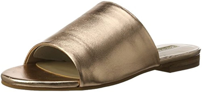Buffalo London Damen 316-5488 Metallic Leather Offene Sandalen