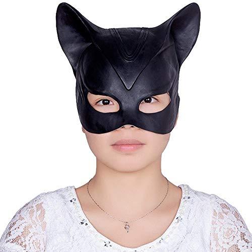 LXIANGP Halloween Catwoman Maske Sexuelle Spaß Maske Half Face Latex Kopfbedeckung Dress up Party Party Maske