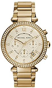 Michael Kors Parker Stainless Steel Watch With Glitz Accents