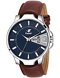 Espoir Analogue Blue Dial Day and Date Men's Boy's Watch - InfiDex0507