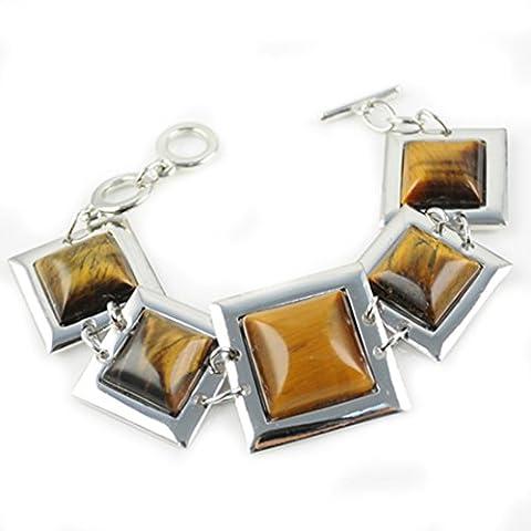 En Métal Haute Brillance autour Bracelet Design en forme de carré, br-1139