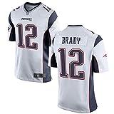 Rugby Jersey Fußball Jersey für Herren-12# Tom Brady New England Patriots Herren Polo Shirt Mesh schnell trocknend Langarm Polyester Fans Sweatshirt