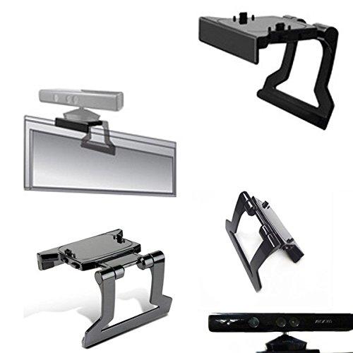 Cewaal Support de fixation pour téléviseur Clip de fixation réglable en plastique pour Microsoft Xbox 360 Xbox360 Kinect Sensor