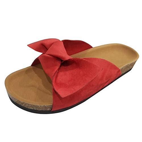 AG&T⊙◡⊙ Sandali con Scivolo per Donna Sandali con Suola in Canvas con Suola in Canvas Sandali da Donna Scivoli su Comode Scarpe Piatte