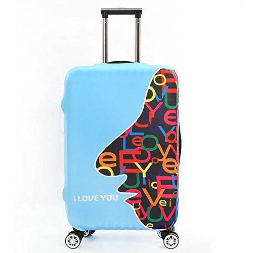 Dometool Reise Gepäck Bezug Koffer Schutz Tasche Polyester Spandex Stretch Stoffbezug 18-32 Zoll Style 7