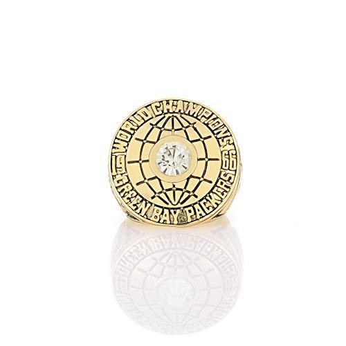WANZIJING Jungen Ringe, Green Bay Packers Champion Ring Sport Fans Kollektion Schmuck Ring Set 1966 Größe: 11