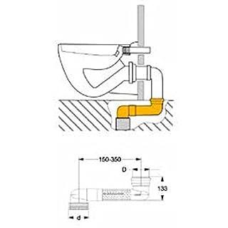WC- Versprungbogen DN 90/ 110,