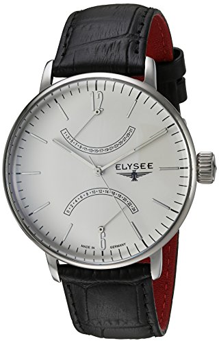 Elysee Herren Analog Quarz Uhr mit Leder Armband 13270