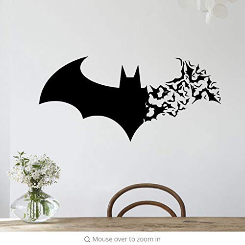 eber kinderzimmer aufkleber kinder tieren schlafzimmer Animal Bat Sticker Decal Removable Halloween Festival Decor Black DIY Wall Sticker Poster Wallpaper Party Home Decoration ()