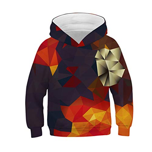 Happy Event Teen Kids Mädchen Jungen Galaxy Fleece Print Cartoon Sweatshirt Tasche Pullover Hoodie (Kaffee, XS) -