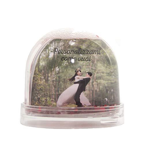 My custom style palla globo di neve personalizzato personalizzabile cuori 9x9cm