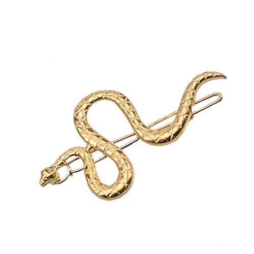 Yanhonin Haarklammern in Form einer Schlange, für Mädchen, Legierung, Texturiertes Metall, moderne Schmuckstücke
