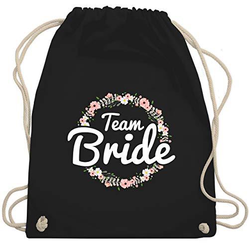 Kostüm Crew Team - JGA Junggesellinnenabschied - Team Bride Blumenkranz - Unisize - Schwarz - WM110 - Turnbeutel & Gym Bag