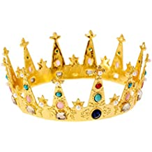 Lurrose Rey de la aleación de oro de la corona de la decoración de la piedra