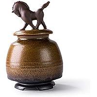 MMJ Ataúd Creativo - Urnas Medianas - Mascotas y Cenizas humanas - Artesanías Antiguas (Color : Style C)