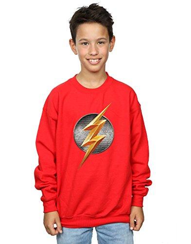 DC Comics Boys Justice League Movie Flash Emblem Sweatshirt