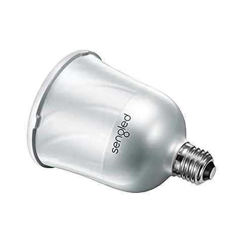 DAS ORIGINAL! SENGLED MASTER PULSE. Raumfüllender JBL-Sound vom Smartphone oder Tablet über deine Lampe! Gehäusefarbe Weiß.