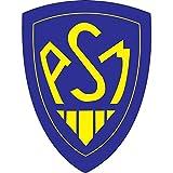 Art Déco Stickers - Sticker Club de Rugby Asm Montferrand Hauteur - Hauteur 5cm