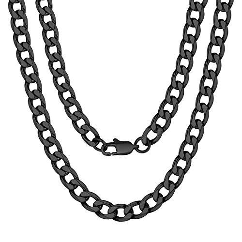 ChainsPro Damen Herren Edelstahl Rolo Kette Herrenhalskette Farbe Silber für Anhänger Breit 4mm-13mm (Männer Gold Diamant Kreuz Anhänger)