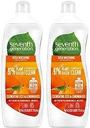 Seventh Generation Plant-based Dishwashing Liquid Clementine, 750ml (Pack of 2)