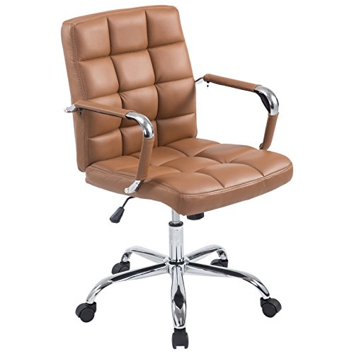 Poly and Bark Manchester Office Chair in Terracotta