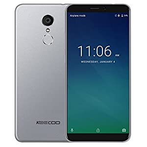 KEECOO P11 4G Smart Phone Face Recognition 5.7 inch 18:9 HD+ Screen Android 7.0 MTK6737 Quad Core 2GB+16GB 8MP+5MP 3050mAh Mobilephone