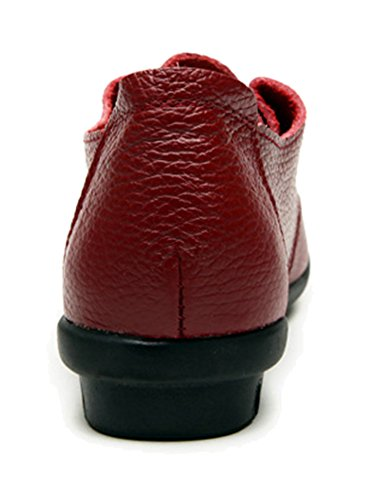 Fangsto  Oxford, Chaussures à lacets fille femme red