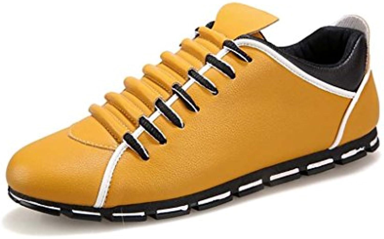 ZXCV Outdoor Schuhe Mens Mesh Running Trainer Athletic Walking Gym Schuhe Sport Run ( Farbe : Gelb   größe : 42 )