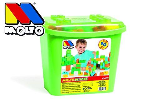 MOLTO- Caja de Bloques con 90 Piezas