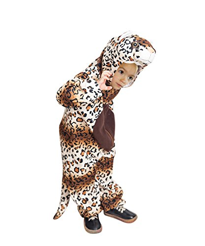 Ikumaal Leoparden-Kostüm, F128 Gr. 110-116 für Kinder, Leoparden-Kostüme für Fasching Karneval, Leopard Klein-Kinder Karnevalskostüme, Kinder-Faschingskostüme, ()
