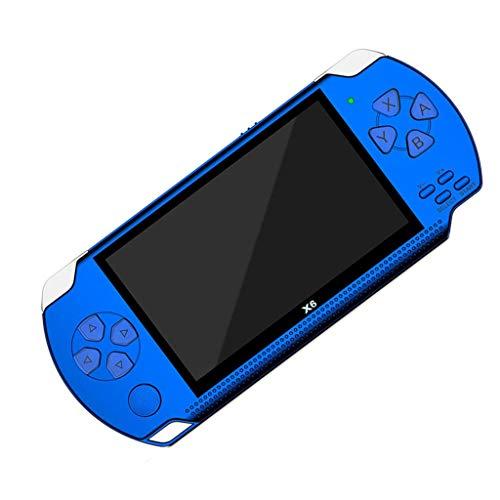 Fcostume Handheld Spielkonsole, 4,3 Zoll Tragbare High Definition Handheld Spülmaschine 10.000 kostenlose Spiele - Spiele Konsolen (blau) (Handheld-spiel-konsole)