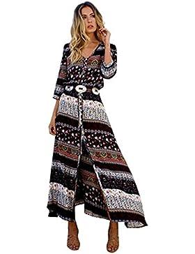 Vestido de mujer-Faith Wings Cóctel de las mujeres de Boho del partido de noche largo del vestido del verano de...