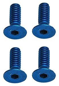 Team Associated FT Screws, 2x 6mm fhcs, Blue Aluminum