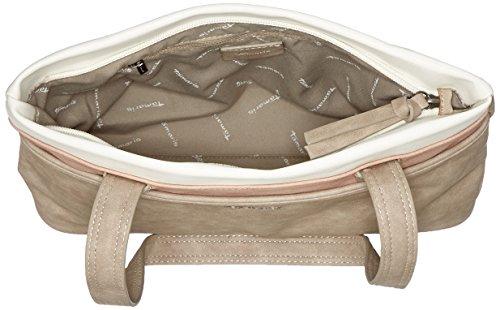 Tamaris - Khema Shoulder Bag, Borse a spalla Donna Grigio (Light Grey Comb)