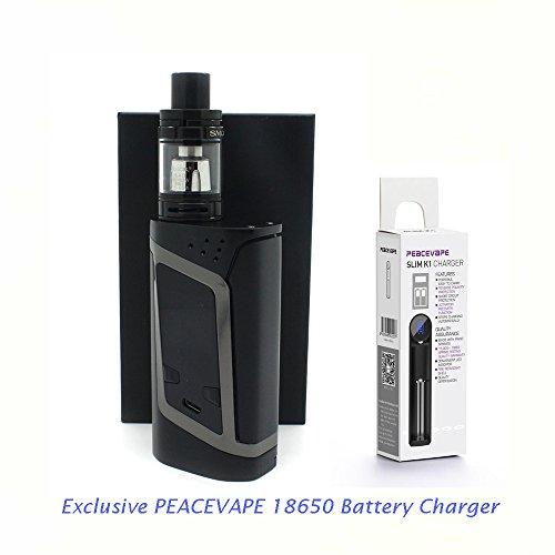 AUTÉNTICO SMOK ALIEN KIT 220W Cigarrillo electrónico 2mL (Negro Gris) con Cargador de 18650 batería PEACEVAPE™ Sin Tabaco - Sin Nicotina