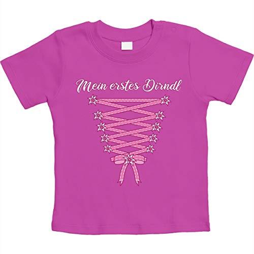 Mein erstes Dirndl - Oktoberfest Babys Unisex Baby T-Shirt Gr. 66-93 12-18 Monate / 86 Rosa