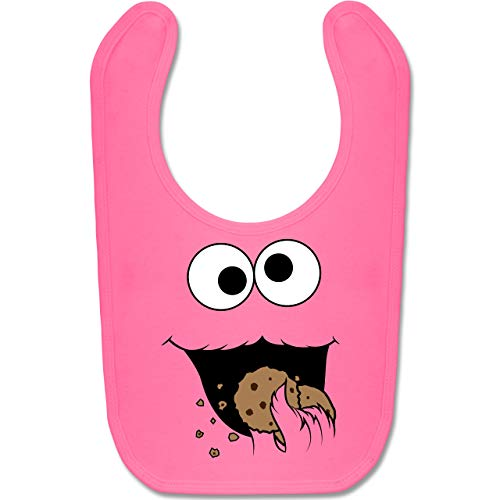 Shirtracer Karneval und Fasching Baby - Keks-Monster - Unisize - Pink - BZ12 - Baby Lätzchen Baumwolle (Rosa Baby Monster Kostüm)