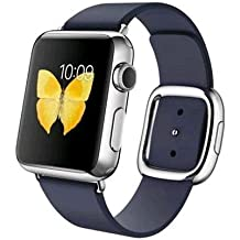 "Apple Watch 38 mm (1ª Generación) - Smartwatch iOS con caja de acero inoxidable en plata (pantalla 1.32"", Apple S1 a 520 MHz, 8 GB, 512 MB RAM), correa azul con hebilla moderna (talla L)"