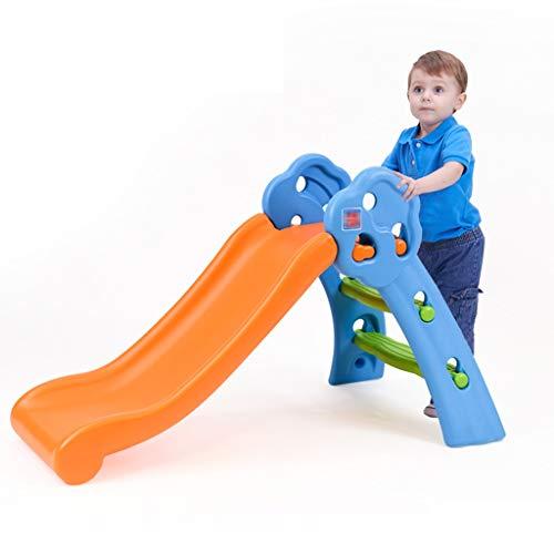 Indoor Klettergerüste Kinderrutsche Haushaltsklettern Spielzeug Kleine Vergnügungspark Einrichtungen Multifunktions Klapp Kombinationsspielzeug (Color : Orange, Size : 109 * 99 * 58cm)