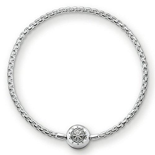 Thomas Sabo Damen-Armband 925 Silber Zirkonia weiß 18 cm - KA0001-001-12-L18