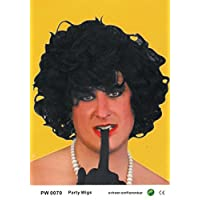 Parrucche Uomini Donne nero Bob Curly Carnevale