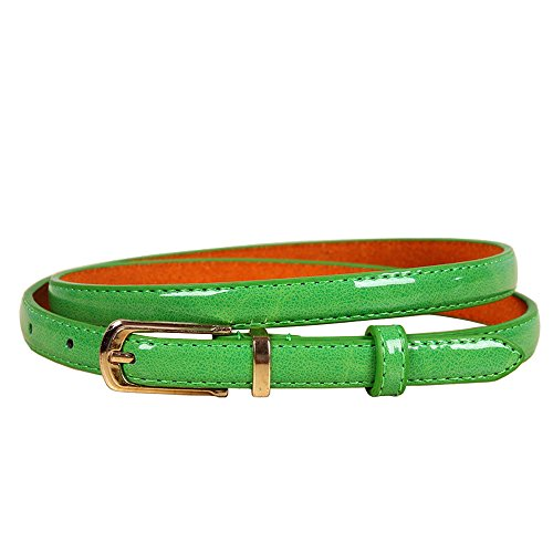 Damen Leder gürtel (bunt) (Grün)