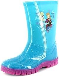 Nuevo niñas/niños turquesa Frozen Character PVC botas.–turquesa–UK tamaños 6–12